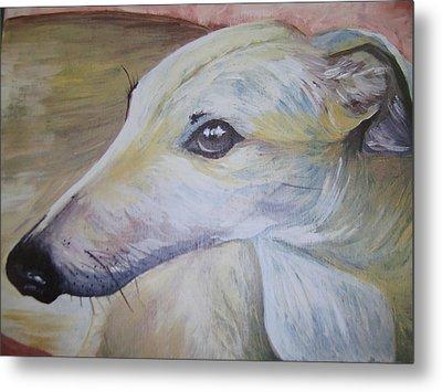 Greyhound Metal Print by Leslie Manley