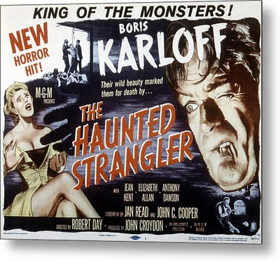 Grip Of The Strangler, Aka The Haunted Metal Print by Everett