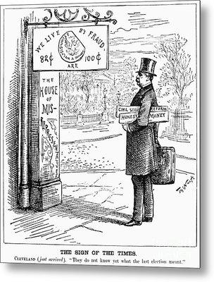 Grover Cleveland Cartoon Metal Print by Granger