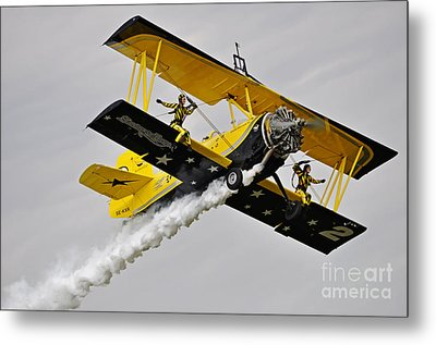 Grumman Ag 164 Wingwalker Metal Print by Conny Sjostrom