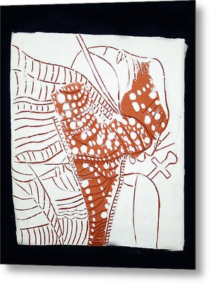 Guardian Angel - Tile Metal Print by Gloria Ssali