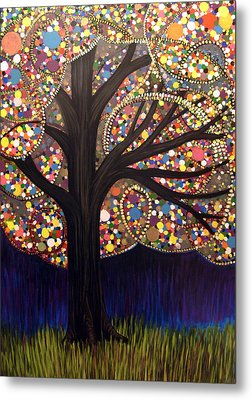 Metal Print featuring the painting Gumball Tree 00053 by Monica Furlow