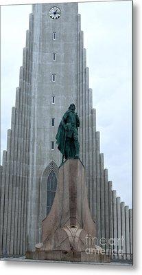 Hallgrimskirkja Church - Reykjavik Iceland  Metal Print by Gregory Dyer