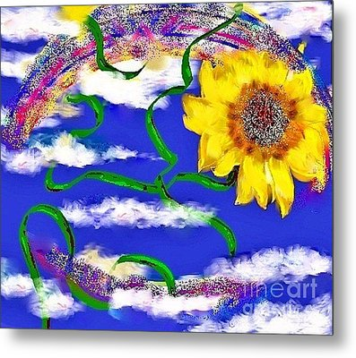 Happiness Is A Sunflower Metal Print by Lori  Lovetere