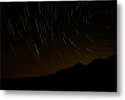 Harriman Star Trails Metal Print by Mike Horvath