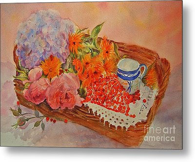 Metal Print featuring the painting Harvest by Beatrice Cloake