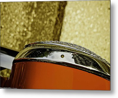 Headlamp Metal Print by Michael Nowotny