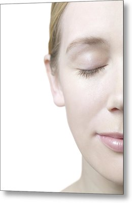 Healthy Woman's Face Metal Print by