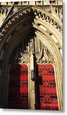 Heinz Chapel Doors Metal Print by Thomas R Fletcher