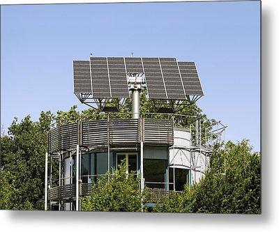 Heliotrope Solar House Metal Print by Martin Bond