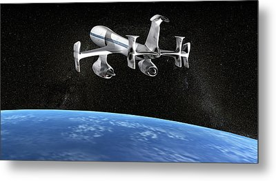 High Altitude Passenger Plane, Artwork Metal Print by Christian Darkin