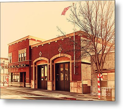Historic Niles District In California Near Fremont . Niles Fire Station Number 2 . 7d10732 Metal Print by Wingsdomain Art and Photography