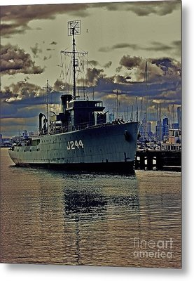 Metal Print featuring the photograph Hmas Castlemaine 3 by Blair Stuart