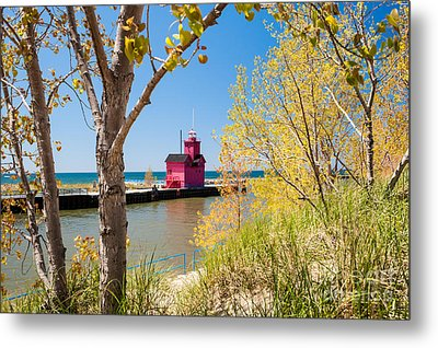 Holland Mi Lighthouse Metal Print
