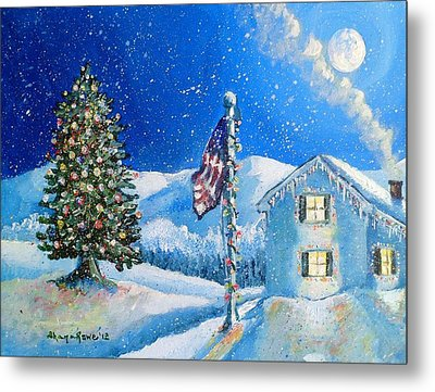 Home For The Holidays Metal Print by Shana Rowe Jackson