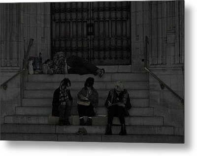 Homeless In The Big Apple Metal Print by Snow  White