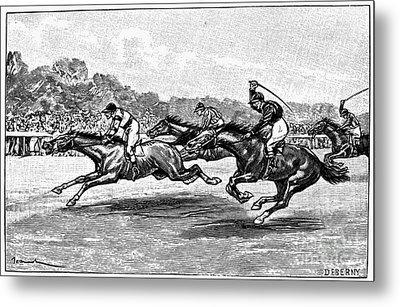Horse Racing, 1900 Metal Print by Granger