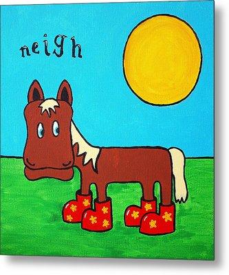 Horse Metal Print by Sheep McTavish