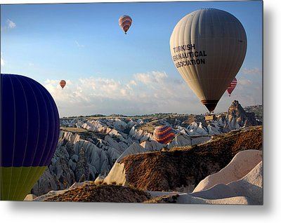 Hot Air Balloons Over Cappadocia Metal Print by RicardMN Photography