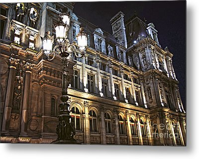 Hotel De Ville In Paris Metal Print by Elena Elisseeva