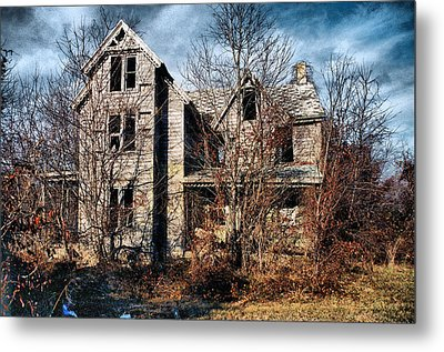 House In Ruins Metal Print by Trudy Wilkerson