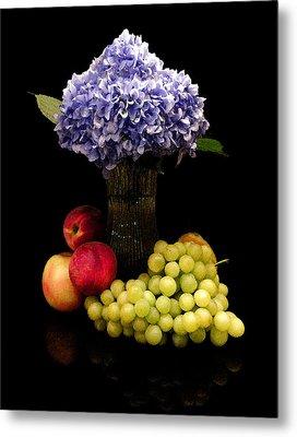 Hydrangea And Fruit Metal Print by Sandi OReilly