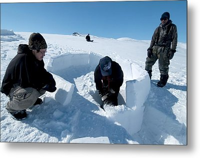 Igloo Building, Arctic Metal Print