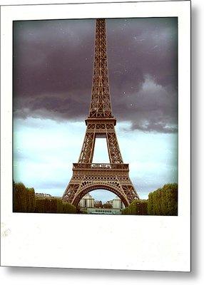 Illustration Of Eiffel Tower Metal Print by Bernard Jaubert