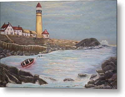 Metal Print featuring the painting In Search Of Portland Maine - Mary Krupa by Bernadette Krupa