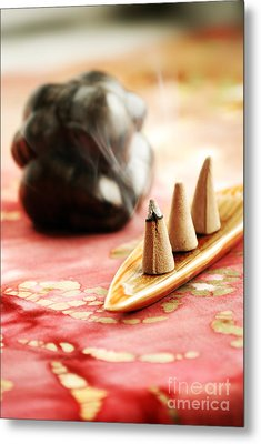 Incense Metal Print by HD Connelly