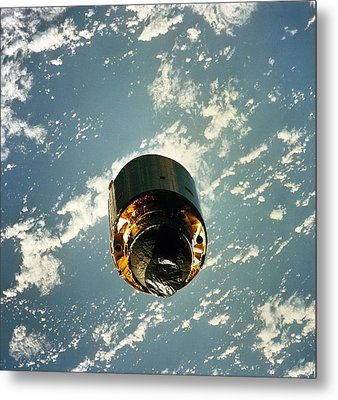 Intelsat Vi, A Communication Satellite Metal Print