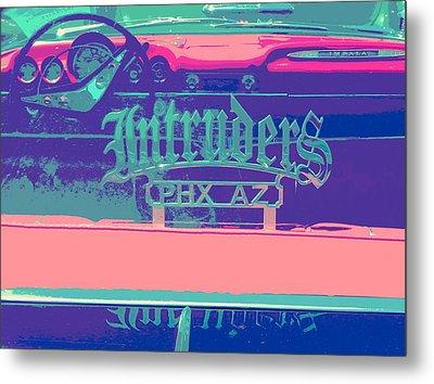 Intruders Car Club Metal Print by Chuck Re