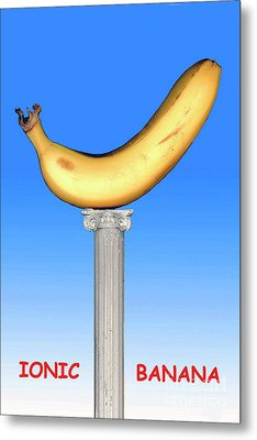 Metal Print featuring the mixed media Ionic Banana by Bill Thomson