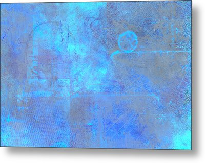 Iridescent Aquamarine Metal Print