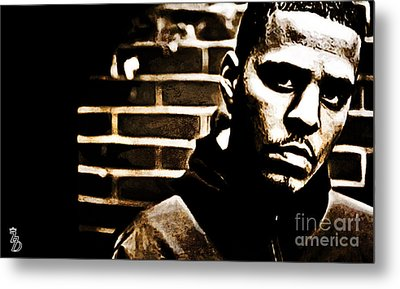 J Cole Metal Print by The DigArtisT