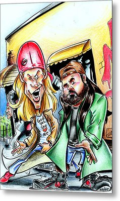 Jay And Silent Bob Metal Print by Big Mike Roate