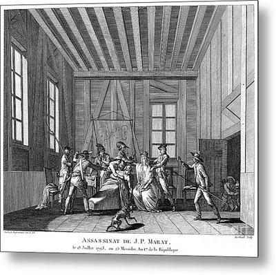 Jean-paul Marat (1743-1793) Metal Print by Granger