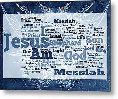 Jesus Messiah 2 Metal Print by Angelina Vick
