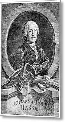 Johann Adolf Hasse Metal Print by Granger