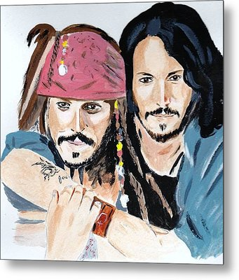 Johnny Depp X 2 Metal Print
