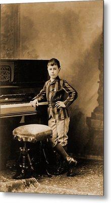 Josef Hofmann 1876-1957, Child Prodigy Metal Print