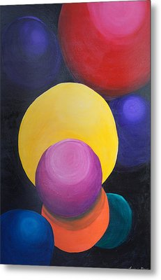 Metal Print featuring the painting Juggling Balls by Kristine Bogdanovich