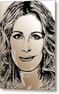 Julia Roberts In 2008 Metal Print by J McCombie