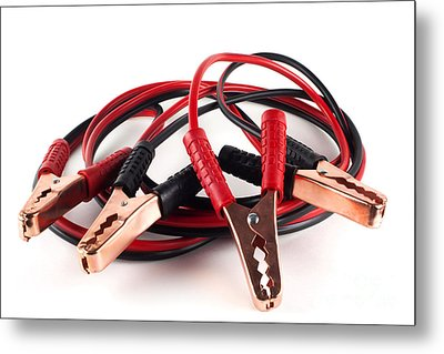 Jumper Cables Metal Print by Blink Images