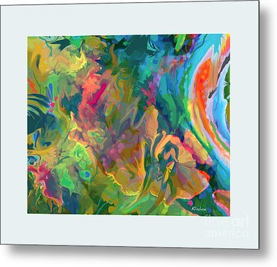 Metal Print featuring the digital art Jungle Spring by David Klaboe