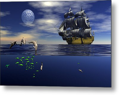 Metal Print featuring the digital art Just Passing by Claude McCoy