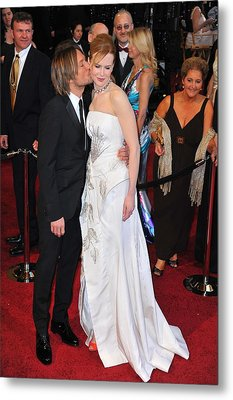 Keith Urban, Nicole Kidman At Arrivals Metal Print by Everett