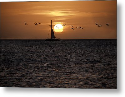 Metal Print featuring the photograph Key West Sunset by Paul Plaine