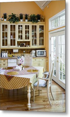Kitchen Cabinets And Table Metal Print by Andersen Ross