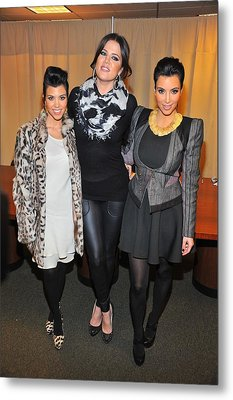 Kourtney Kardashian, Khloe Kardashian Metal Print by Everett
